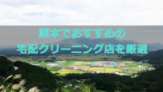熊本県でおすすめの宅配クリーニング店