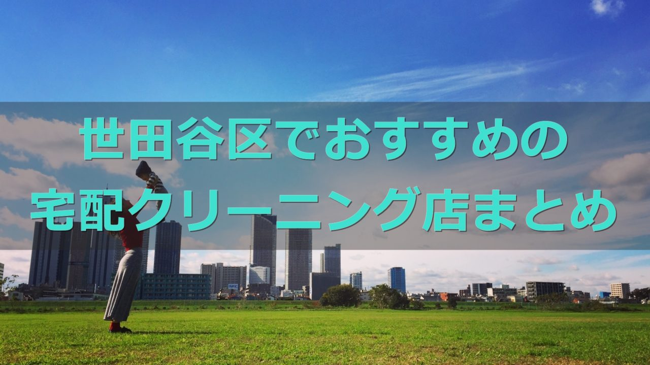 世田谷区でおすすめの宅配クリーニング店の口コミ評判