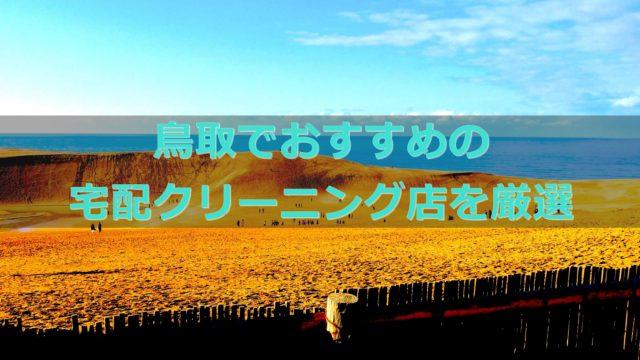 鳥取県でおすすめの宅配クリーニング店