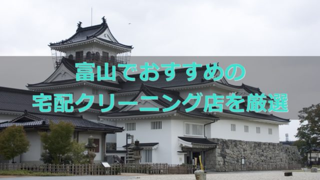 富山県でおすすめの宅配クリーニング店