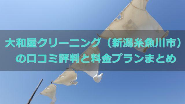 大和屋(新潟)クリーニングの口コミ評判と料金プランについて